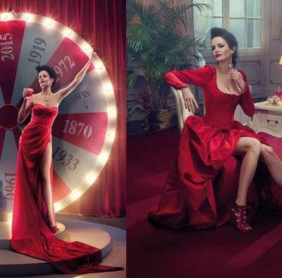 Eva Green, égérie pour le calendrier Campari
