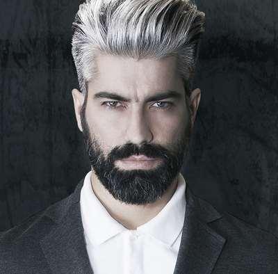 Male grey hair