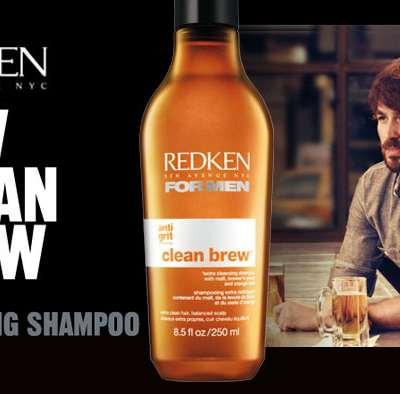 Le shampooing à la bière -Redken for men Clean Brew- s'invite au bal des hommes
