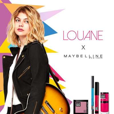 Louane, Maybelline's muse, young and pretty