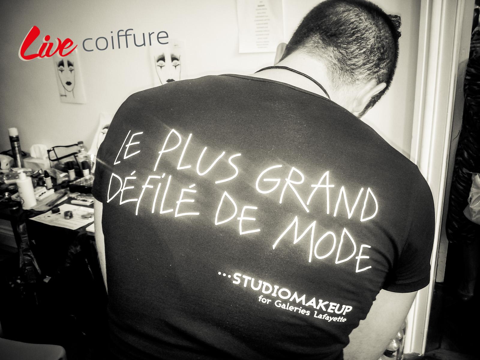 Backstage Plus grand défilé Galeries Lafayette 2012