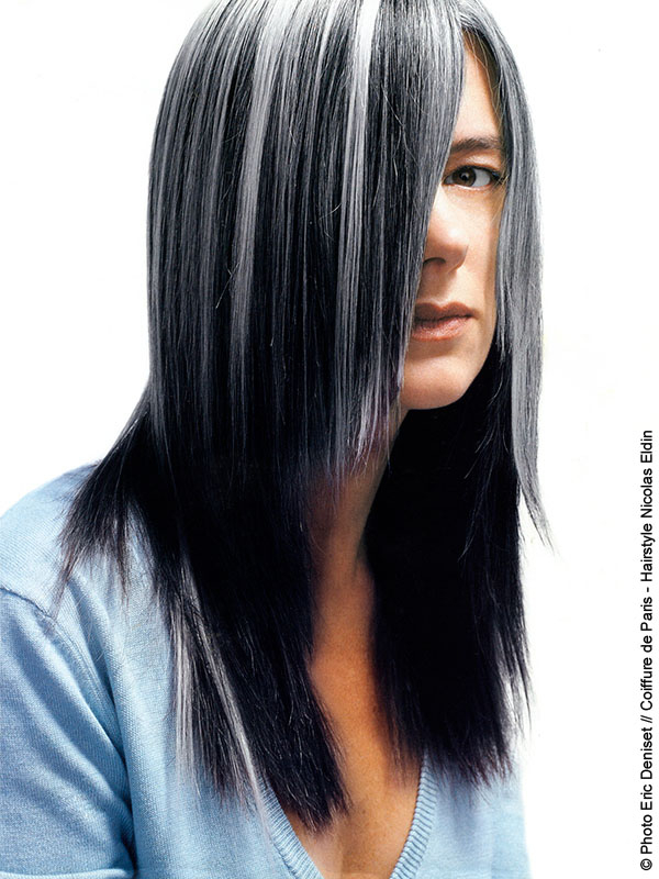 Grey highlights on black hair the best black hair 2017 pictures of brown hair with gray highlights sintomas del pmusecretfo Gallery